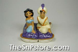 Aladdin and Jasmine on Carpet Salt and Pepper Shakers