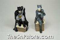 Batman and Catwoman Salt and Pepper Shakers