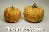 Rustic Pumpkin Salt  & Pepper Shakers
