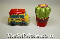 Taco Truck and Cactus Salt  & Pepper Shakers