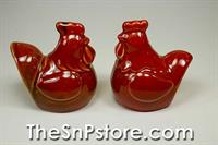 Red Rooster Salt  & Pepper Shakers