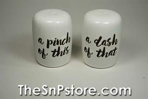 Pinch of This Salt  & Pepper Shakers