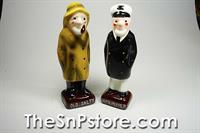 Mr Salty and Captain Pepper Salt  & Pepper Shakers