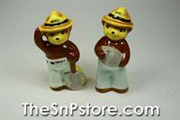 Smokey the Bear Salt  & Pepper Shakers