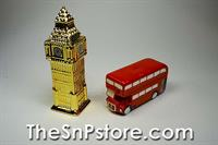 Big Ben and Double Decker Bus Salt  & Pepper Shakers