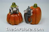 Mice with Pumpkins Salt  & Pepper Shakers