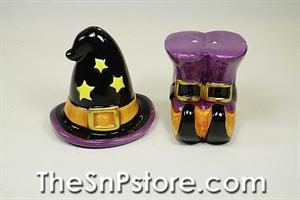 Witch Hat and Boots Salt  & Pepper Shakers