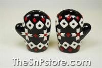 Black Mitten  Salt  & Pepper Shakers