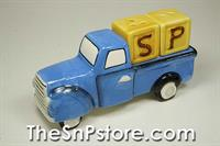 Blue Truck Ceramic Salt  & Pepper Shakers